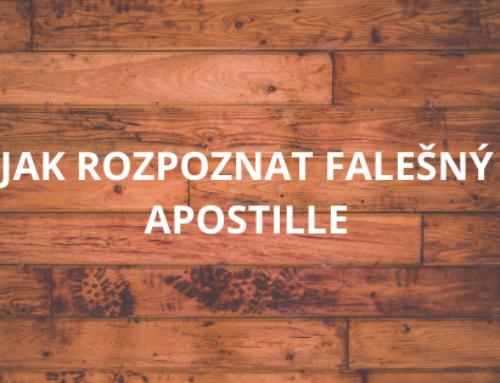 Jak rozpoznat falešný Apostille
