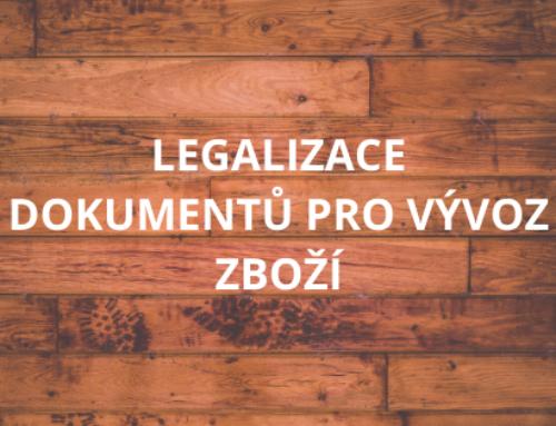 Legalizace dokumentů pro vývoz zboží