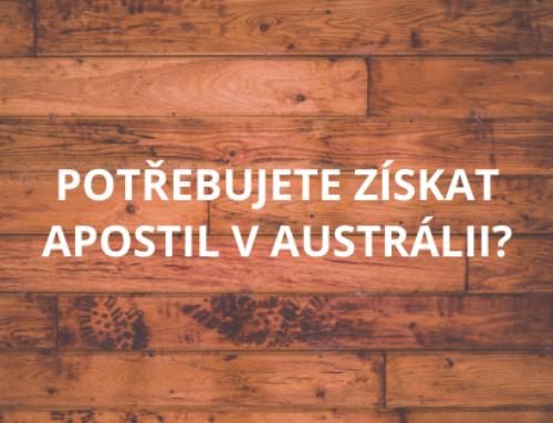 Potřebujete získat Apostil v Austrálii?