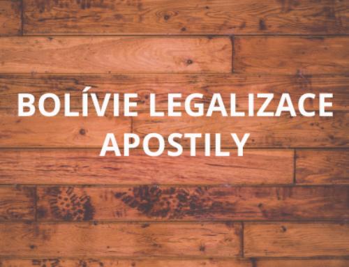 BOLÍVIE LEGALIZACE APOSTILY